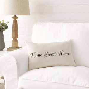 country pillow covers home sweet home