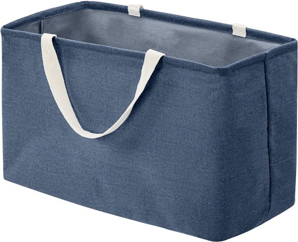 country baskets canvas navy blue