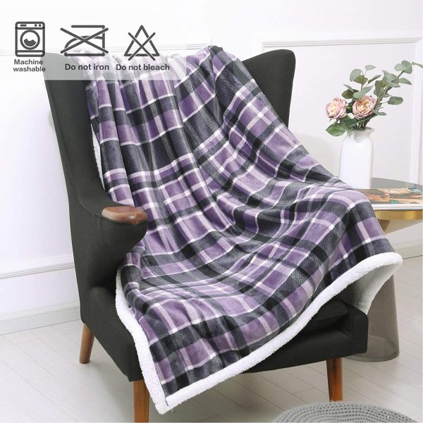 country blankets throws purple fleece