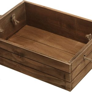 country baskets rustic wood open crate brown
