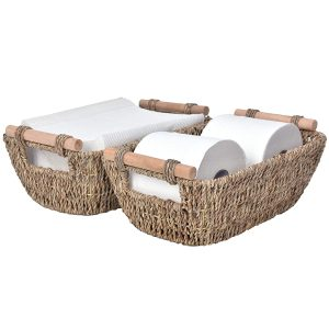 country baskets small wicker 2 pack
