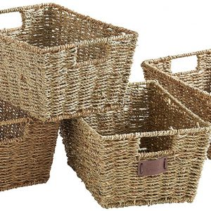 country baskets natural woven seagrass