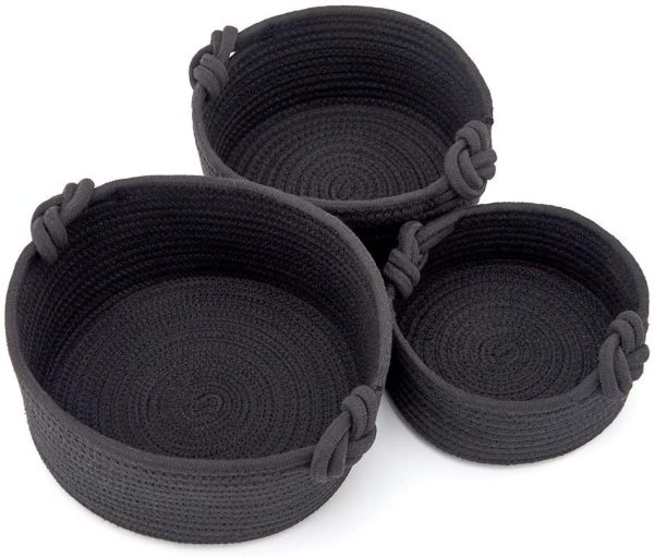 country baskets black knit
