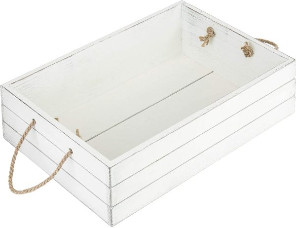 country baskets vintage whitewash crate