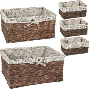country baskets brown wicker 5 piece