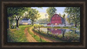 country wall art the road home