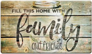 country home decor family dime floormat
